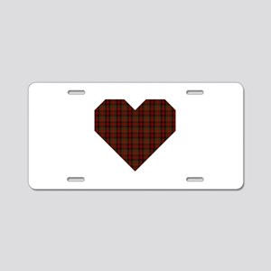 Bruce Hunting Geo Heart Aluminum License Plate
