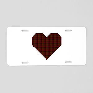 Bruce Hunting Geo Heart Aluminum License Plate