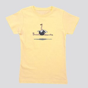 Ostrich Leaping Girl's Tee