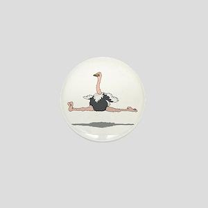 Ostrich Leaping Mini Button