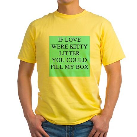 sick jokes gifts t-shirts Yellow T-Shirt
