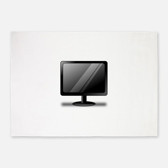 Ronaldo black monitor 5'x7'Area Rug