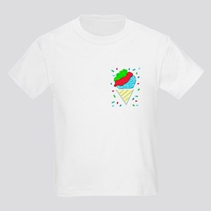 Snow Cone Confetti Kids Light T-Shirt