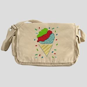 Snow Cone Confetti Messenger Bag