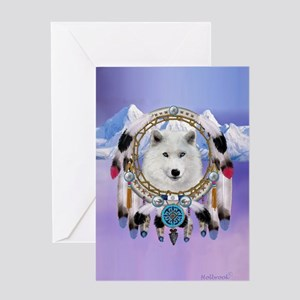 Native American Wolf Spirit Greeting Cards
