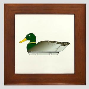 Duck Decoy Side View Framed Tile