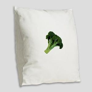 Broccoli Burlap Throw Pillow