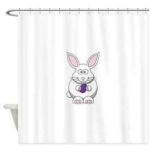 Bunny Cartoon Shower Curtains