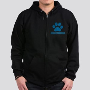 English Foxhound Dog Designs Zip Hoodie (dark)