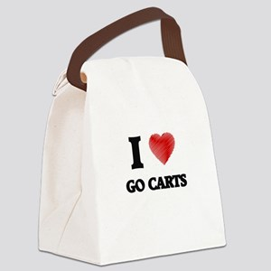 I love Go Carts Canvas Lunch Bag