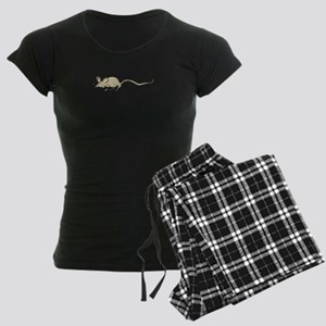 Mouse Sneaking Women's Dark Pajamas