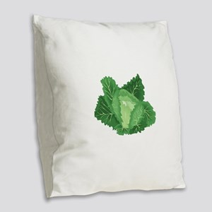 Cabbage Burlap Throw Pillow