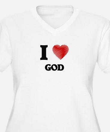 I love God Plus Size T-Shirt