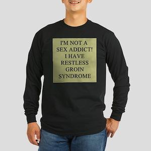 sex addict gifts t-shirts Long Sleeve Dark T-Shirt