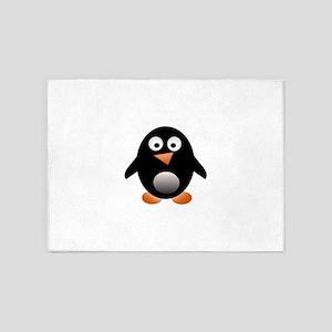 Jesus freak penguin 5'x7'Area Rug