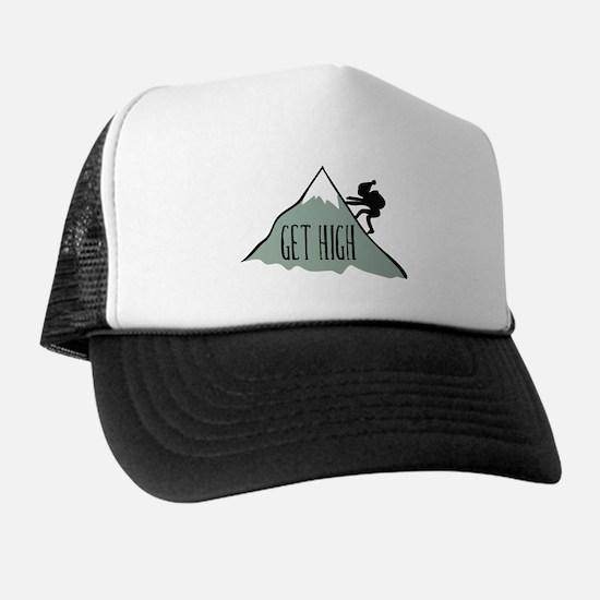Get High: Mountain Climbing Trucker Hat