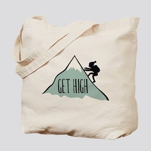 Get High: Mountain Climbing Tote Bag