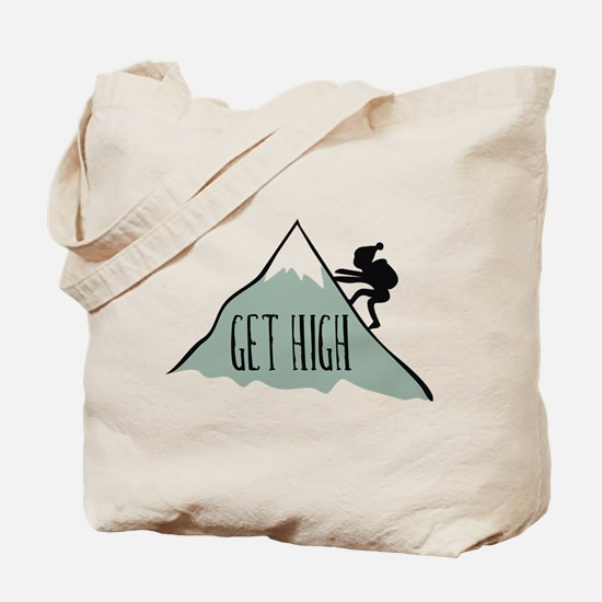 Get High: Mountain Climbing Tote Bag