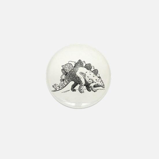 Dinosaur stegosaurus Mini Button