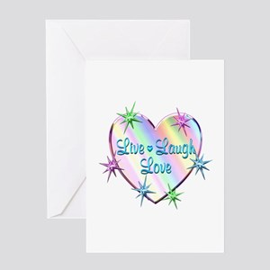 Live Laugh Love Heart Greeting Card