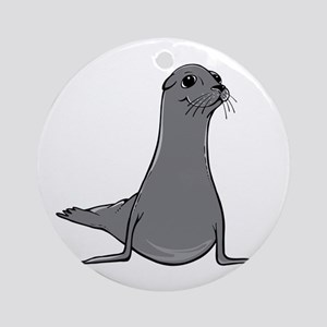 Sea Lion Round Ornament