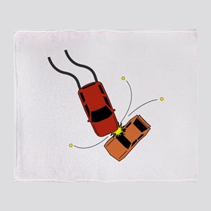 Car Accident Throw Blanket