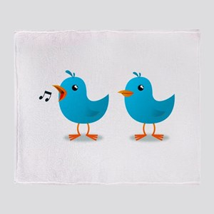 Twitter bird mascot Throw Blanket
