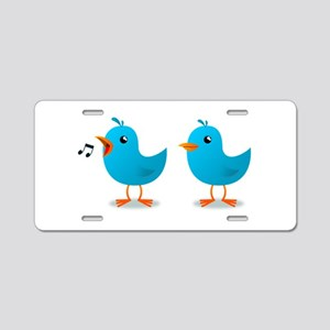 Twitter bird mascot Aluminum License Plate