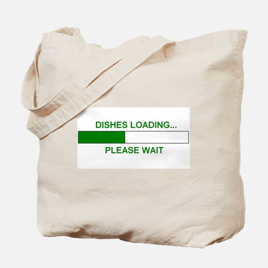 DISHES LOADING... Tote Bag