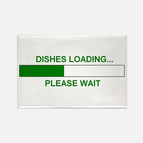 DISHES LOADING... Rectangle Magnet (10 pack)