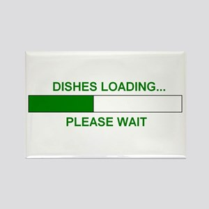 DISHES LOADING... Rectangle Magnet