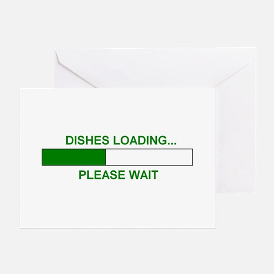 DISHES LOADING... Greeting Card