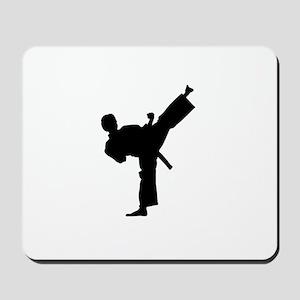 Karate man lifted leg in air Mousepad