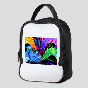 dragon heads Neoprene Lunch Bag
