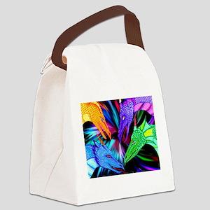 dragon heads Canvas Lunch Bag
