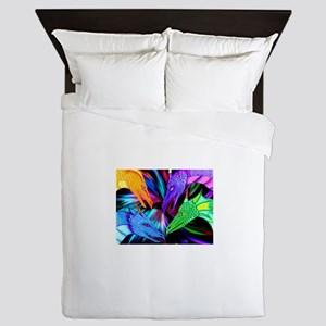 dragon heads Queen Duvet