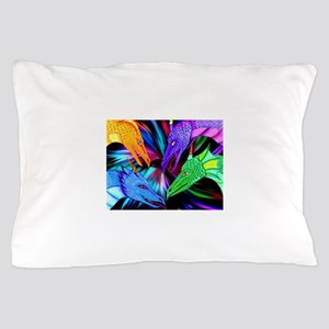 dragon heads Pillow Case