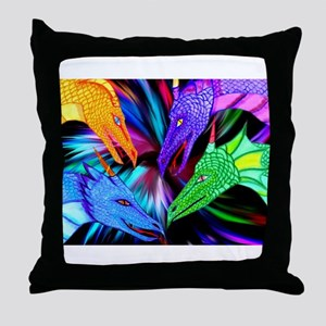 dragon heads Throw Pillow