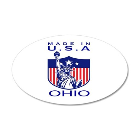 Ohio State Designs 35x21 Oval Wall Decal