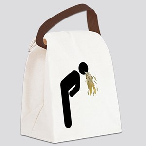Man vomiting icon Canvas Lunch Bag