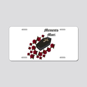Memento Mori Aluminum License Plate