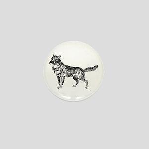 Jackal silhouette Mini Button