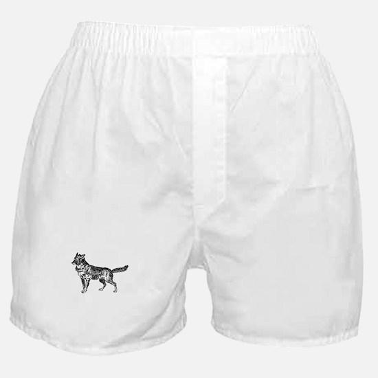 Jackal silhouette Boxer Shorts