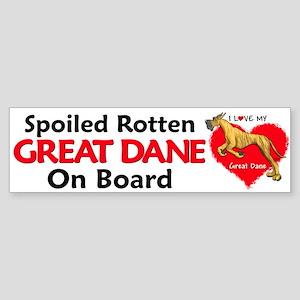 Love Brindle Dane Bumper Sticker