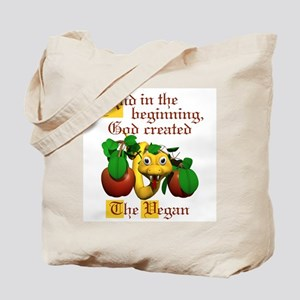 God Created The Vegan Tote Bag