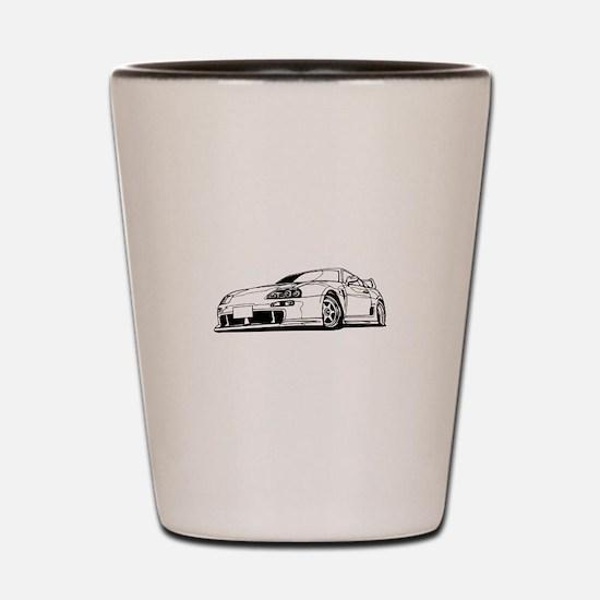 Porsche 911 car Shot Glass