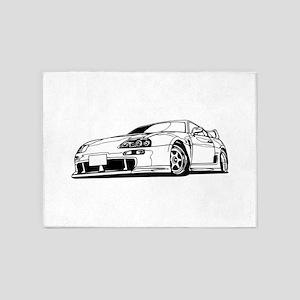 Porsche 911 car 5'x7'Area Rug