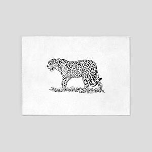 Jaguar silhouette 5'x7'Area Rug