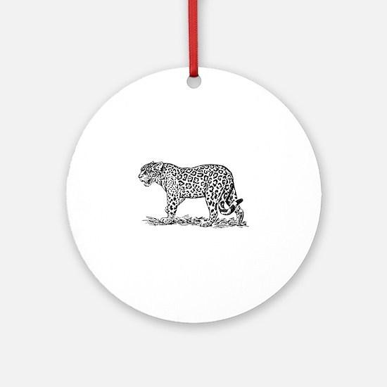 Jaguar silhouette Round Ornament