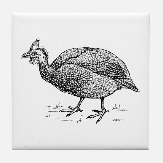 Guinea fowl Tile Coaster